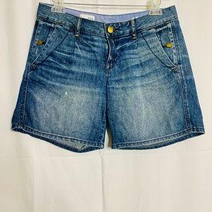 Gap 1969 Broken in Distressed Blue Denim Shorts